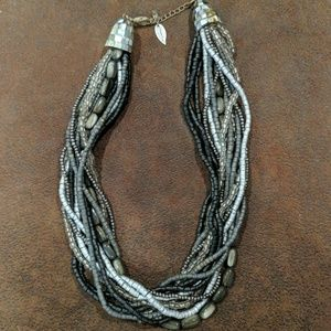 Gray Coldwater Creek multi-strand necklace.